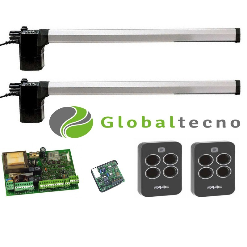 KIT SET PACK DOBLE FAAC 412 GLOBALTECNO