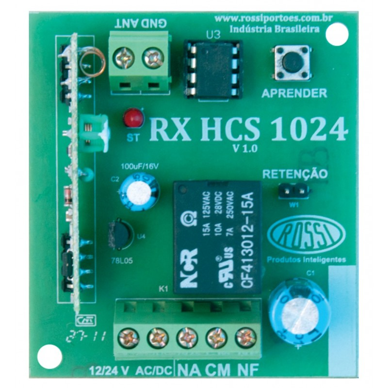 Receptor Rossi 433 mhz Rolling code -...