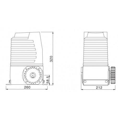 medidas motor xianfeng l200 b para portones de corredera - globaltecno